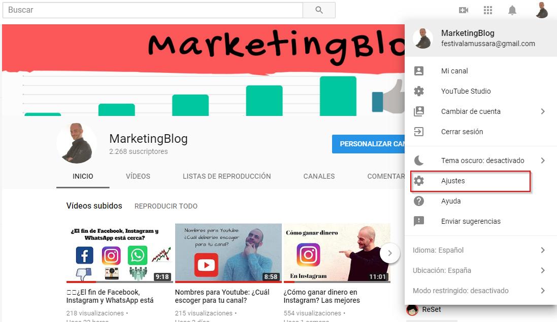 como cambiar el nombre de tu canal de youtube 1