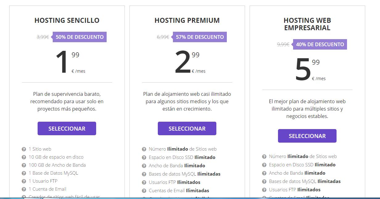 precio hosting barato hostinger