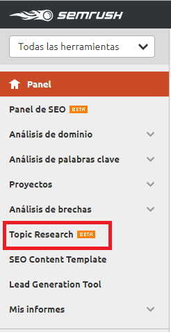topic research semrush